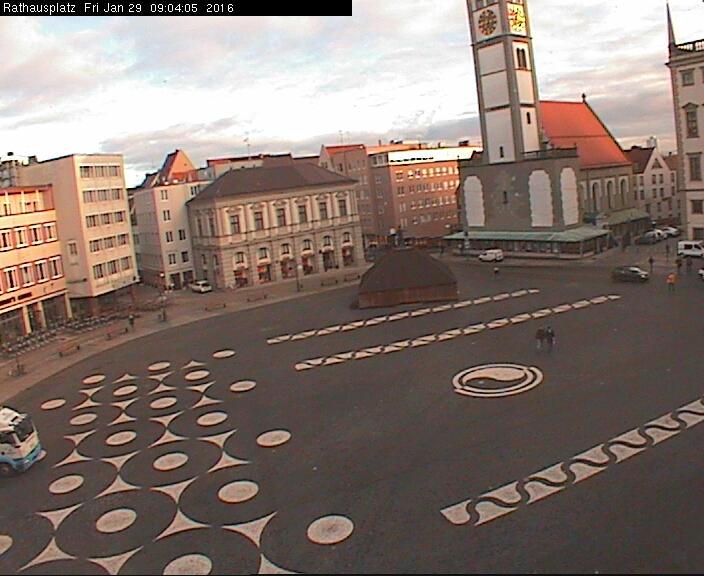 Augsburg Rathausplatz / Deutschland